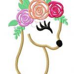 Biche couronne fleurs1