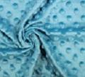 Minky Pois Bleu Turquoise