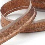 Passepoil bronze scintillant