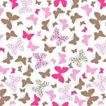 Papillons Rose-Brun